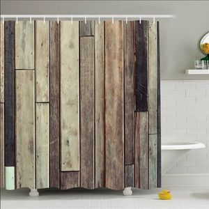 Shower Curtain Old Wooden Planks Print